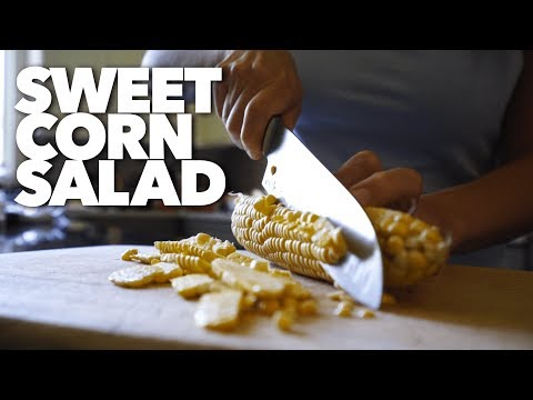 Sweet Corn Salad with Avocado and Lime Dressing (Recipe)