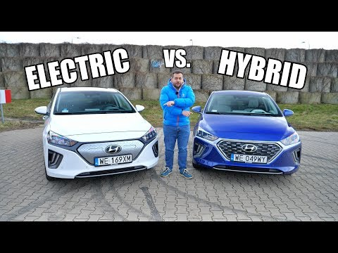 Hyundai IONIQ Electric vs. Hybrid Comparison (ENG) - Test Drive and Review