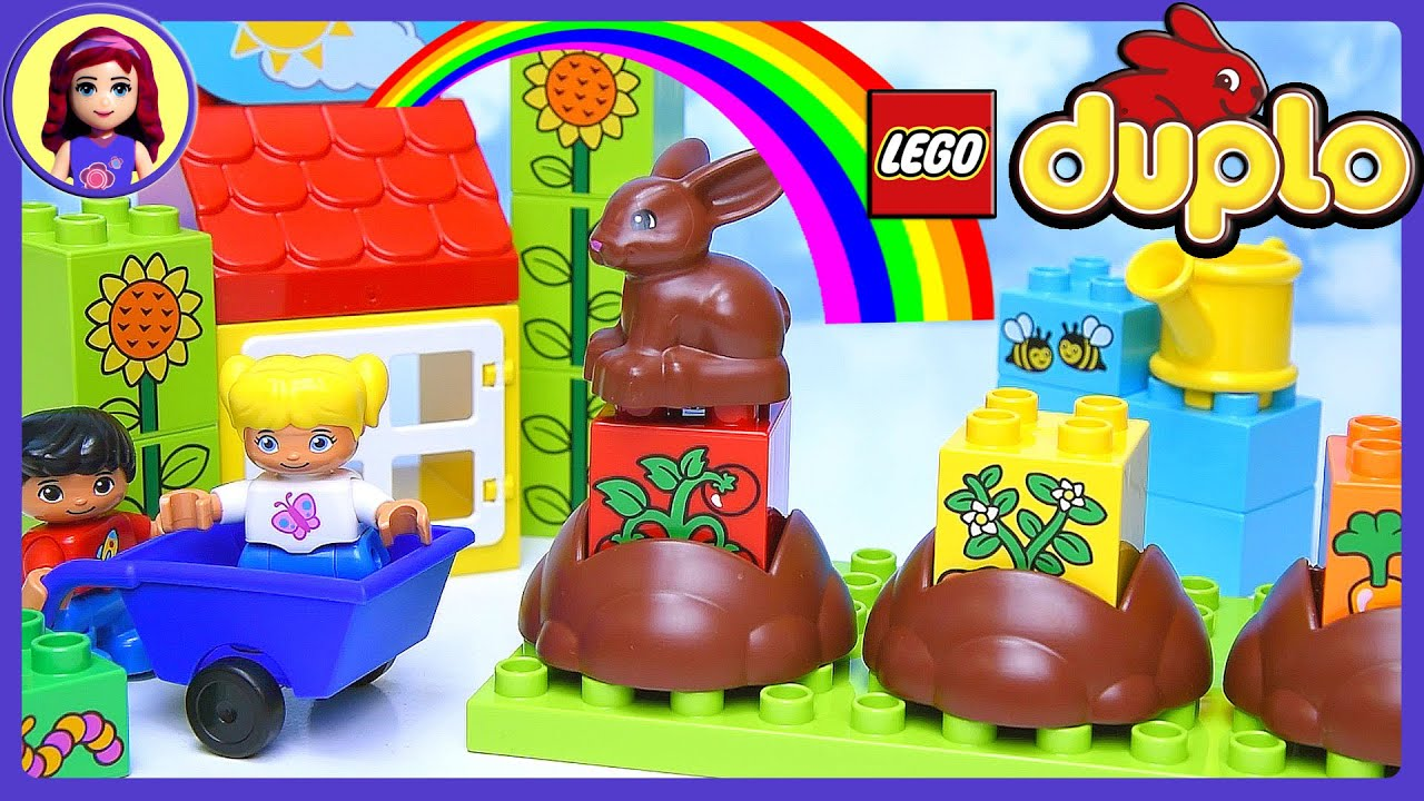 Learn How Gardens Grow Duplo Lego My First Garden Build Review Play   Kids  Toys   YouTube