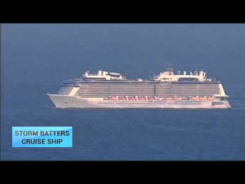 Storm Batters Royal Caribbean Cruise Ship: MS Anthem of the Seas returns to New Jersey port