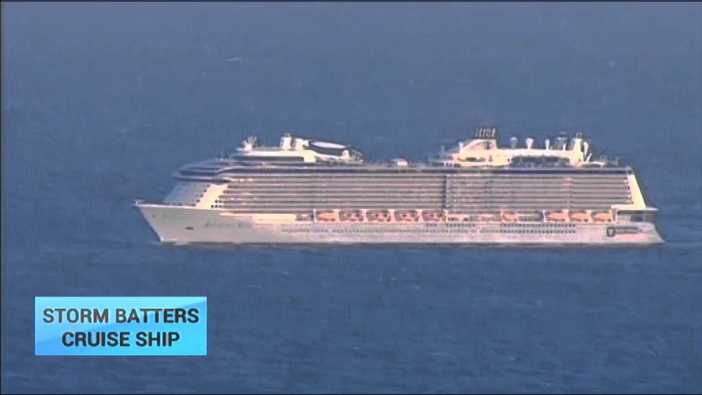 Storm Batters Royal Caribbean Cruise Ship Ms Anthem Of The Seas Returns To New Jersey Port