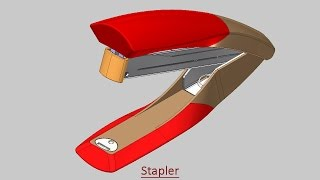 Stapler (Volume-2) Video Tutorial -- Autodesk Inventor
