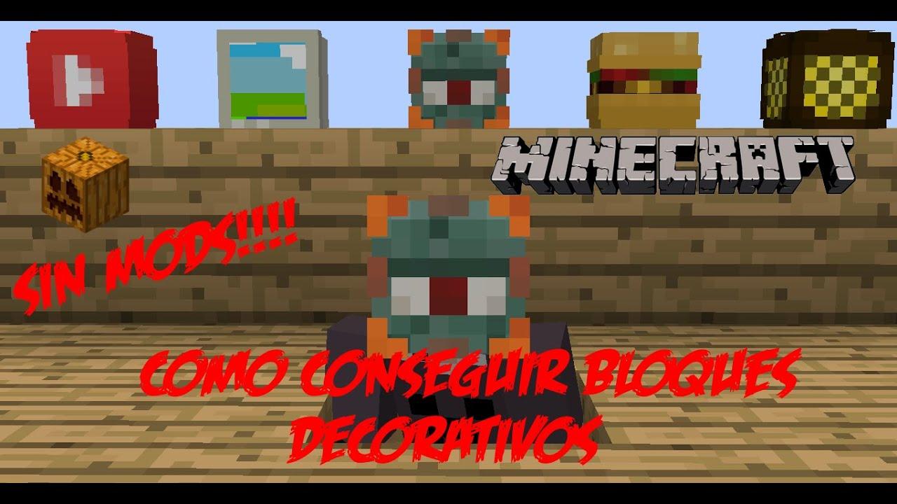Minecraft pc como conseguir bloques decorativos sin for Bloques decorativos