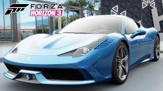 Tunando Ferrari 458 Speciale 2013 no Jogo Forza Horizon 3 Gameplay