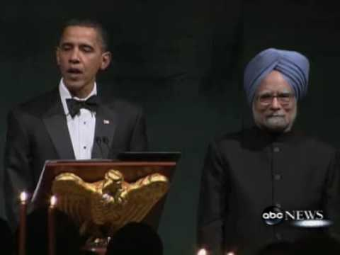 President Obama 's Toast at the State Dinner for PM Manmohan SINGH