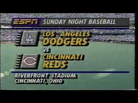 1990 MLB: Dodgers at Reds 6241990