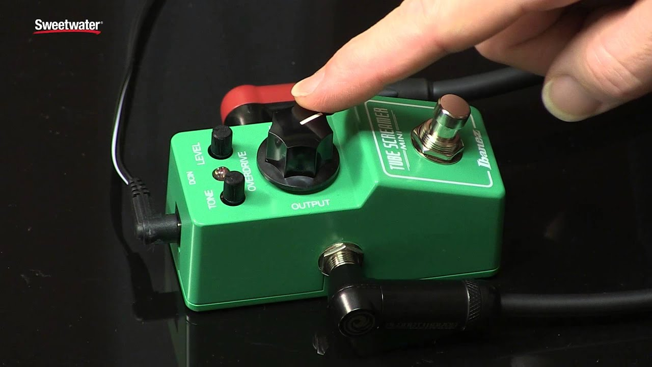ibanez tube screamer mini overdrive pedal revie with loop