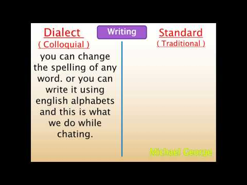 The difference between dialect and standard Arabic.