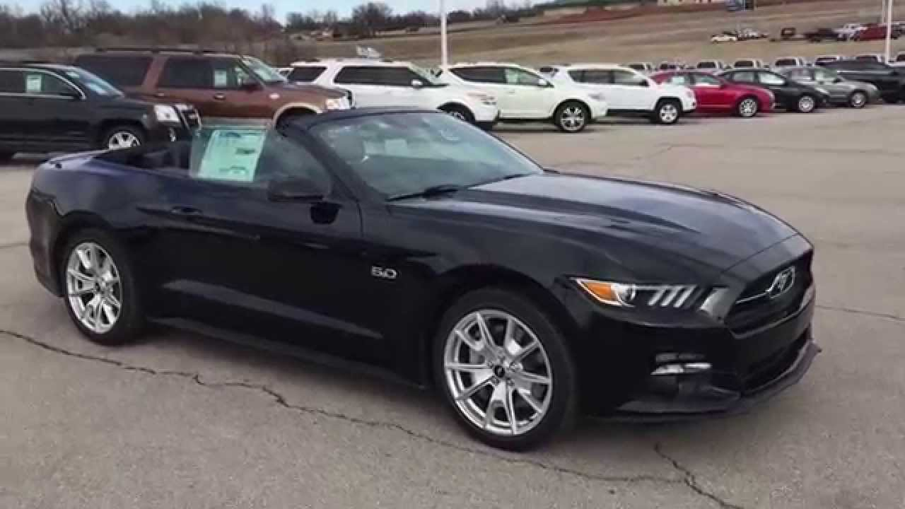 f5329846 2015 ford mustang gt prem convertible black patriotford youtube - Ford Mustang 2016 Black