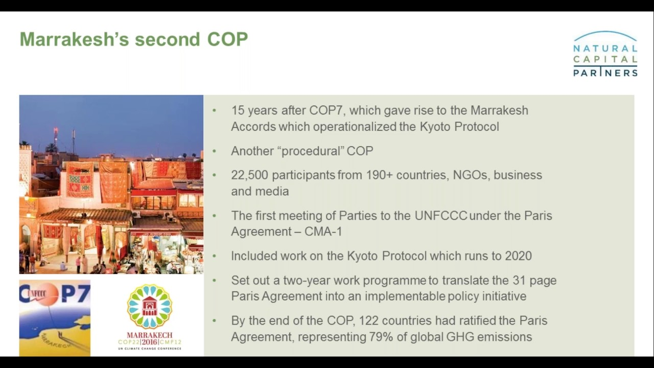 Marrakesh Cop22 Turning The Paris Climate Agreement Into Action