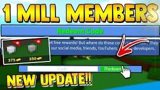1 MILL MEMBERS CODE!! & UPDATE!! | Build a boat for Treasure ROBLOX