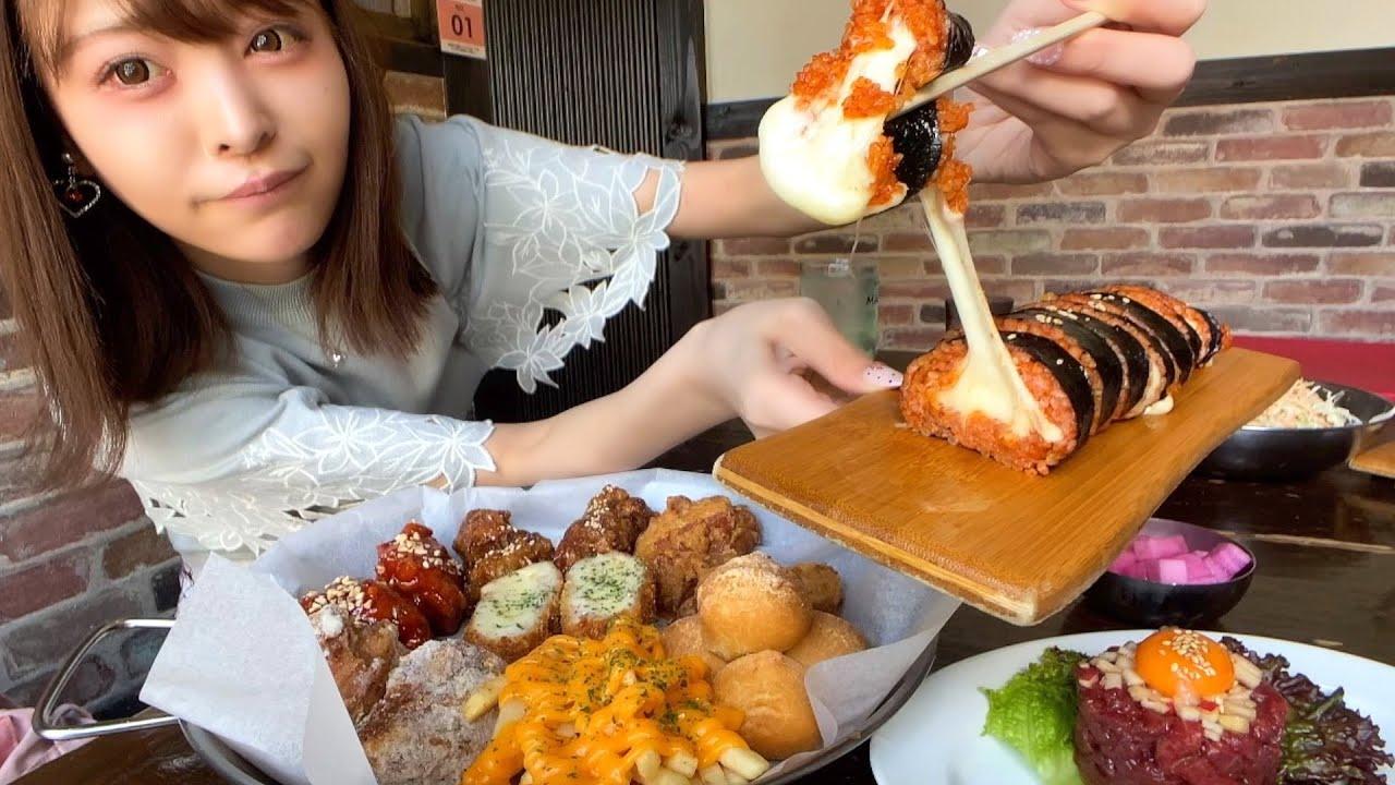 【大食い】まさにチーズテロ。ユッケにチーズキンパにヤンニョムチキン…新大久保で好きなものをだけ好きなだけ韓国グルメ爆食グルメツアー開催したよ