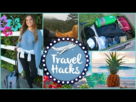 Travel Life Hacks, DIY Ideas, & Airplane Outfits!