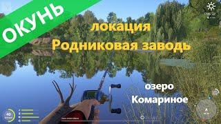 Русская рыбалка 4 озеро Комариное Окунь за бревном