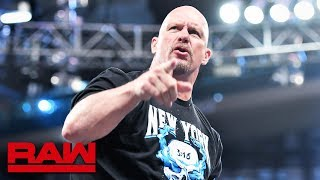 """""""Stone Cold"""" Steve Austin breaks glass on Raw at MSG: Raw, Sept. 9, 2019"""