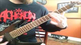 CANNIBAL CORPSE - Shredded Humans (guitar cover w/ leads)