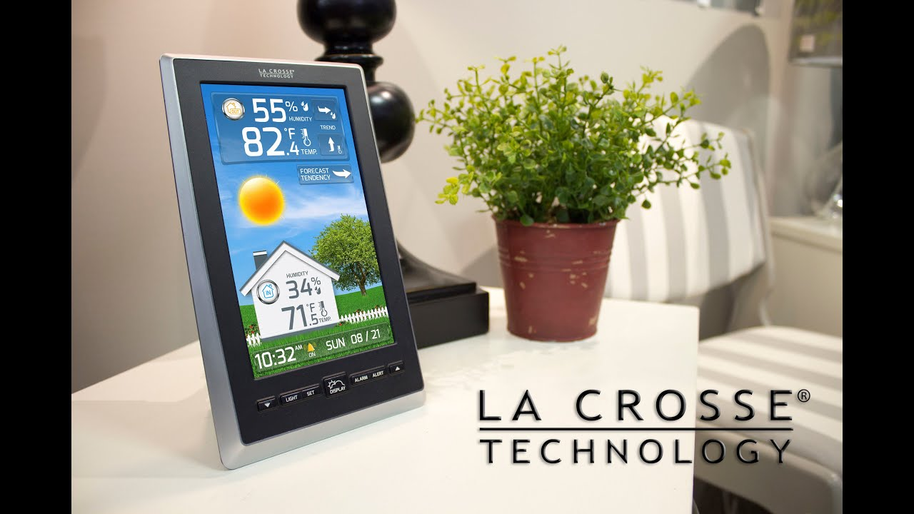 Vivid Color Weather Station With Liquid Crystal Display