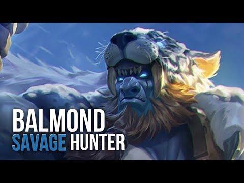 SAVAGE HUNTER SKIN: Balmond gameplay u0026 build - YouTube