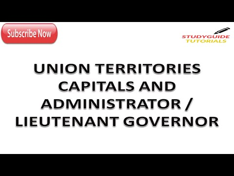 UNION TERRITORIES THEIR CAPITALS, ADMINISTRATOR/LIEUTENANT GOVERNOR|SSC CGL|CHSL|CPO|
