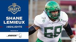 HIGHLIGHTS: Oregon Guard Shane Lemieux | Giants Draft Shane Lemieux