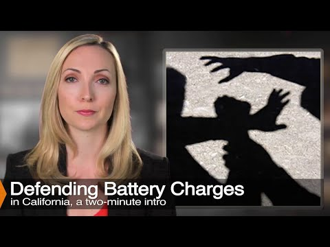 "California ""Battery"" Law Explained - Penal Code 242"