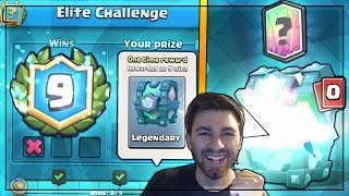 YES! 9 WINS ELITE CHALLENGE & LEGENDARY CHEST OPENING | Clash Royale | WINNING KINGS CUP CHALLENGE
