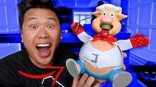 IMPOSSIBLE POP THE PIG CHALLENGE!!! (FIRST TO POP HIS BELLY LOSES)