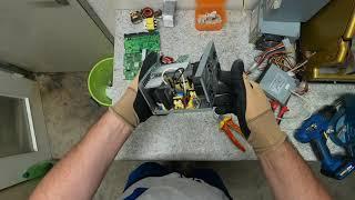 разборка электроблока в поисках драг металлов