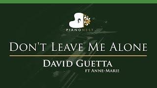 David Guetta ft Anne-Marie - Don't Leave Me Alone - LOWER Key (Piano Karaoke / Sing Along)