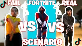 FORTNITE SCENARIO VS REAL VS FAIL #2