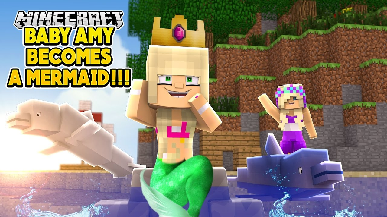 how to turn into a mermaid in minecraft pe