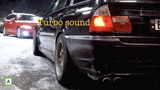 BMW E46 320d Straight Pipe Sound Compilation
