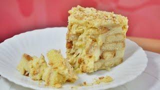 """Ленивый торт """"Наполеон"""" из печенья Ушки"""