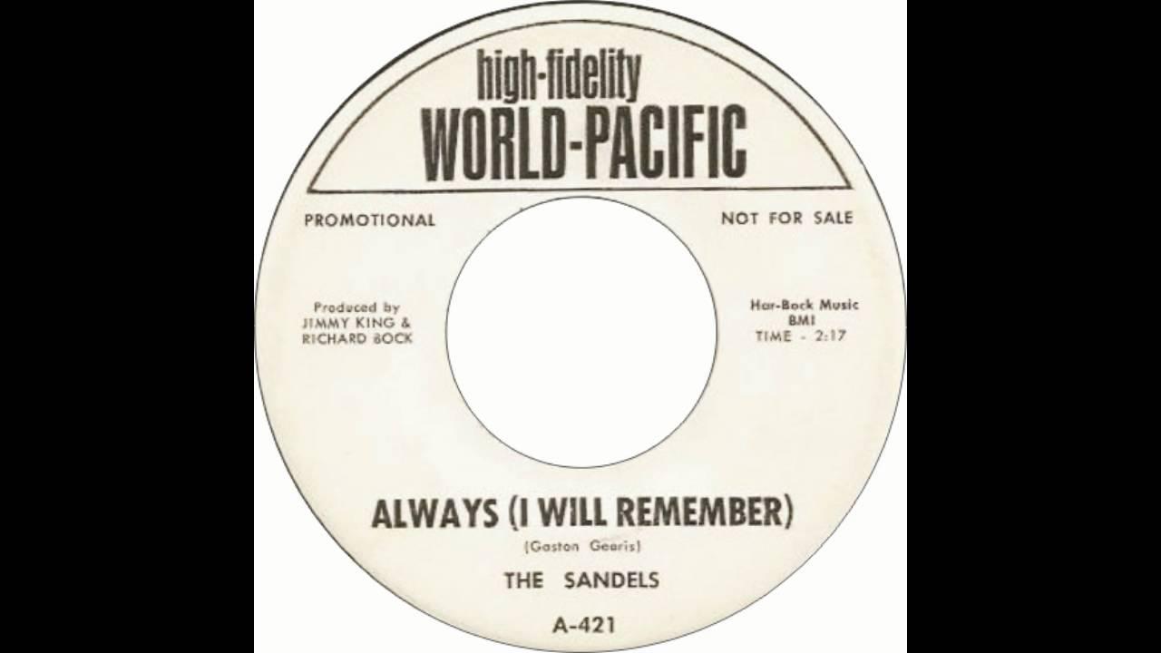 Download The Sandels - Always (I Will Remember)