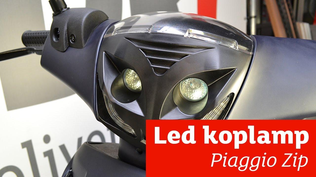Koplamp LED Piaggio Zip (2000) DMP zwart