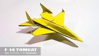 Papierflieger selbst basteln. Papierflugzeug falten - Beste Origami Flugzeug  | F-14 Tomcat