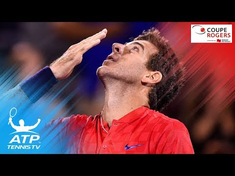 Incredible Juan Martin del Potro flick lob shot in doubles match | Coupe Rogers Montreal 2017