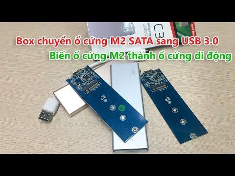 Giới thiệu Box chuyển ổ cứng SSD M2 SATA sang USB 3.0 vỏ nhôm, nhỏ gọn