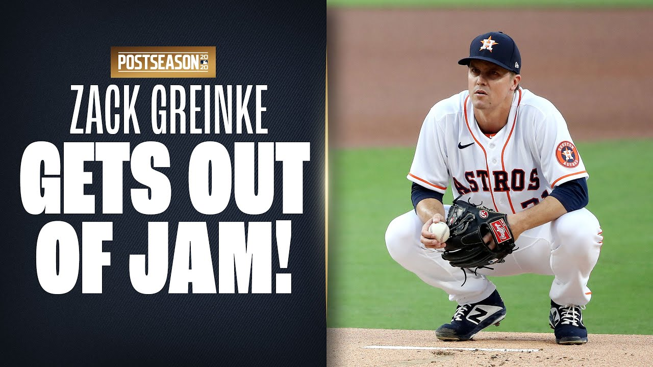 Zack Greinke gets out of HUGE bases-loaded jam in 6th inning on the way to Astros ALCS Game 4 win!