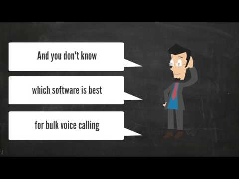 Bulk voice broadcasting software