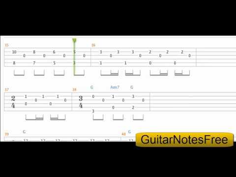 Blackbird - The Beatles Guitar Tab HD