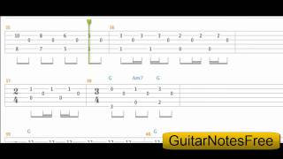 Blackbird - The Beatles Guitar Tab HD