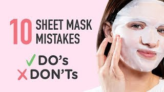 Download lagu Are You Sheet Masking Correctly⁉️ 😱 Sheet Mask Do's & Don'ts ✔️