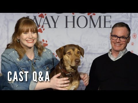 A DOG'S WAY HOME - Cast Q&A (Bryce Dallas Howard, W. Bruce Cameron)