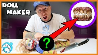 Cutting Open The DollMaker   Whats inside the doll   Thumbs Up Family