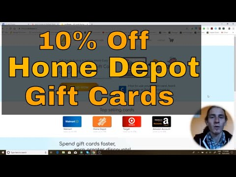 You Can Get Home Depot Gift Cards For 10% Off Now