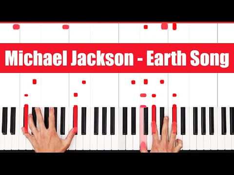 Earth Song Michael Jackson Piano Tutorial - CHORDS