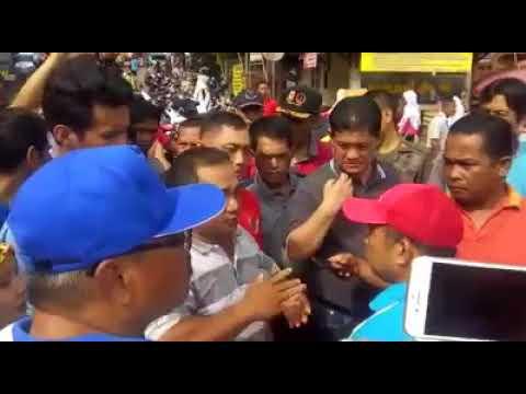 Heboh Seorang Pedagang Pasar Angso Duo Jambi Marah-Marah