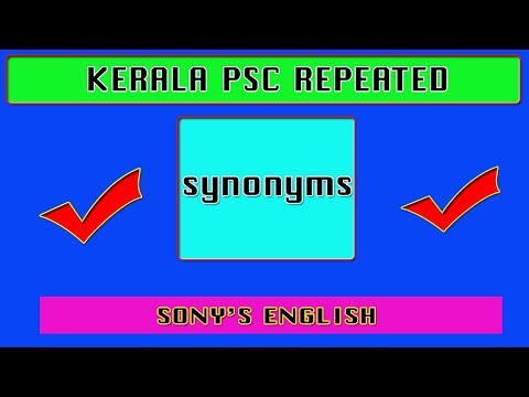 KERALA PSC REPEATED SYNONYMS