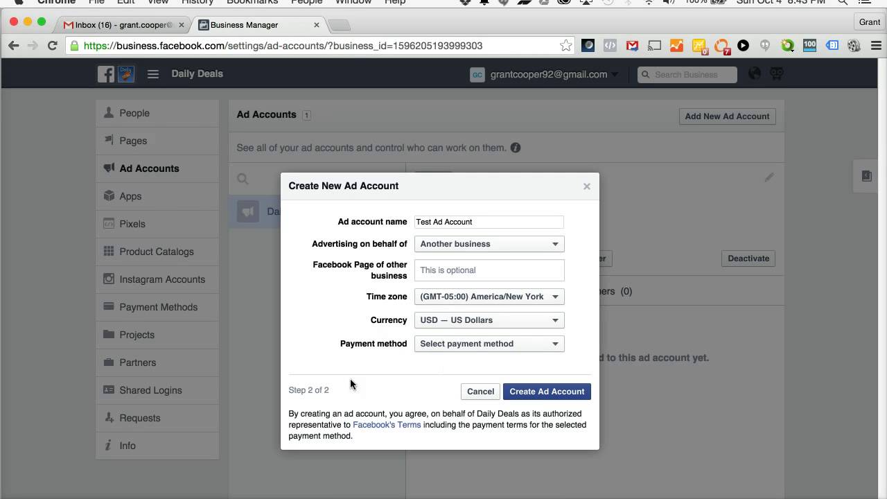 How to create ads on facebook business manager